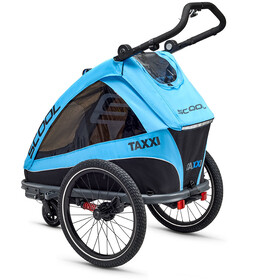 s'cool taXXi Elite Remolque para 1, cyan